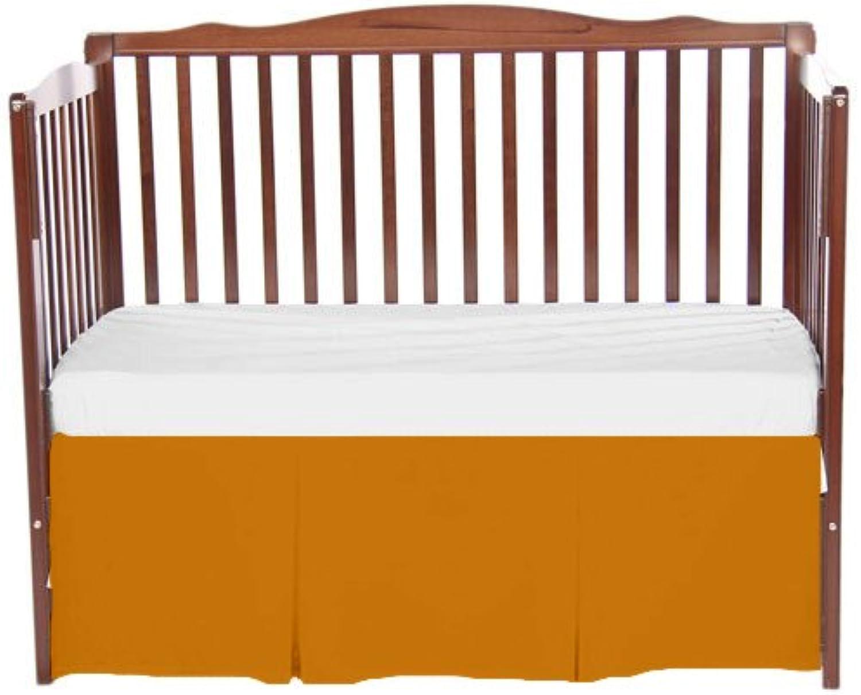 Bkb Solid Tailored Crib Skirt, orange