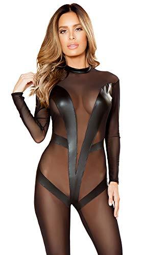 QINGGG Eng anliegende Lackleder rückenfrei, Damen sexy Dessous sexy Pyjama S ~ XXL kann getragen Werden
