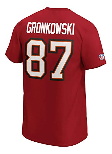 Fanatics Camiseta de la NFL Tampa Bay Buccaneers Rob Gronkowski Gronk #87...