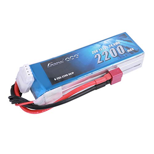 Gens ace 11.1V 2200mAh 3S 25C LiPo Battery Pack with Deans Plug for RC Heli Airplane Car Boat Truck