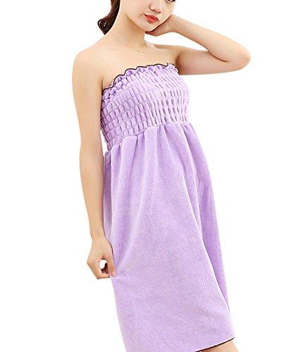 Toallas de Baño, albornoz toalla Wearable, toalla piscina playa mujer Sexy ducha, absorbente Seco Rápidamente Super Suave púrpura OneSize