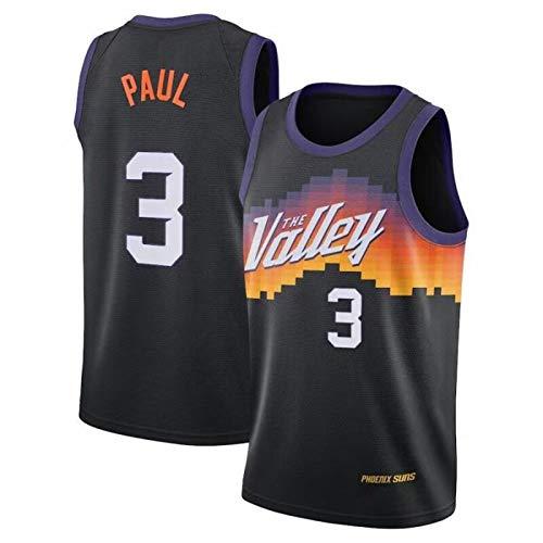 DNBBA Paul Basketball Jersey 3# CP3, Männer Sleeveless Basketballplatte, atmungsaktive Hip Hop Kleidung Black-L