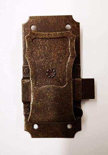 Serratura forgiata in ferro da restauro per mobili antichi e in arte povera. FS 101.20