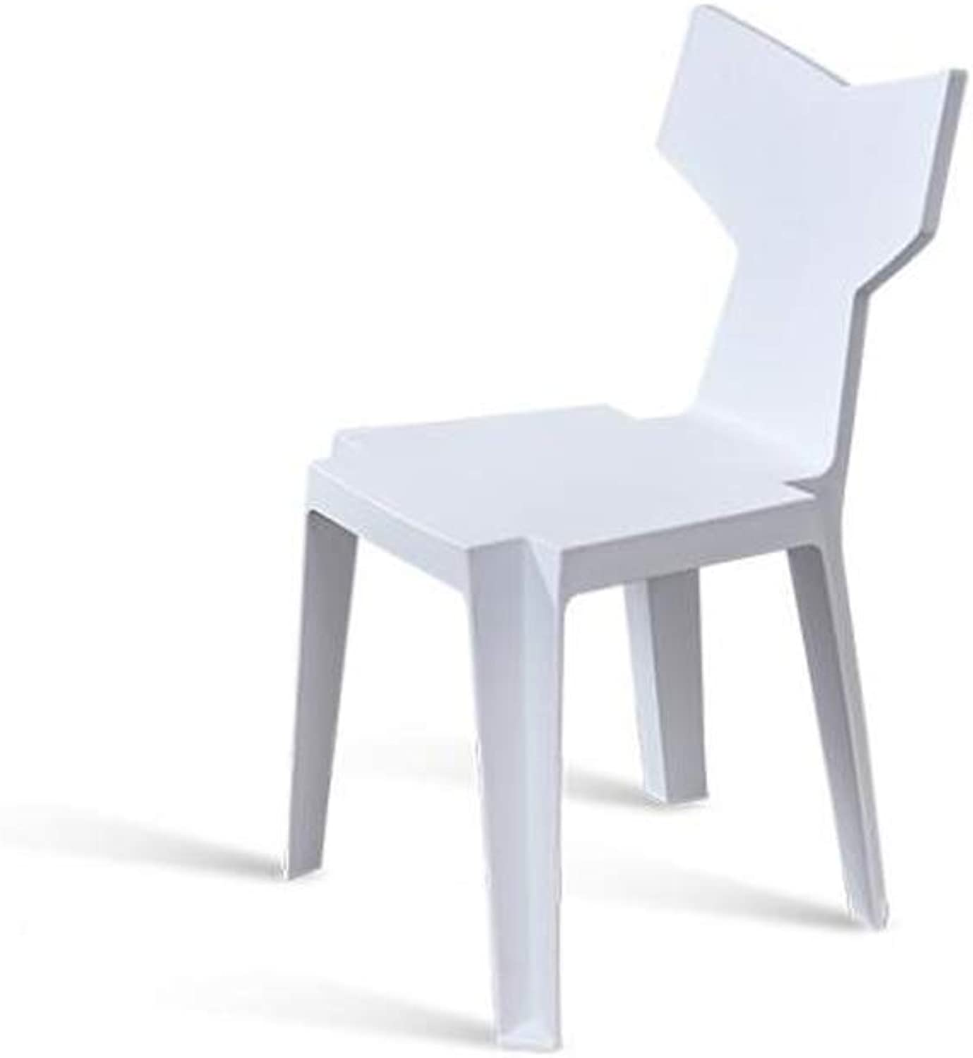 LRW Modern Minimalist Dining Chair, Backrest Stool Chair, Nordic Creative Leisure Chair, White