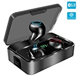 Bluetooth Kopfhrer in Ear, YONMIG Kabellos Bluetooth 5.0 Headset mit 3000mAh Ladebox Wireless Noise...