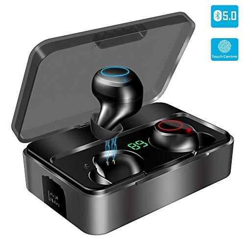 Bluetooth Kopfhörer in Ear, YONMIG Kabellose Bluetooth 5.0 Headset mit 3000mAh Ladebox Wireless Noise Cancelling Earbuds 90H Stunden Spielzeit Sport Wasserdicht IPX7 Minikopfhörer mit Mikrofon