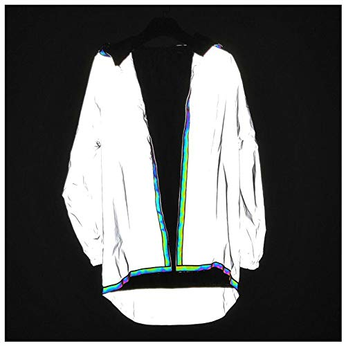 VHGYU reflecterende licht jas mannen reflecterende trug jas zonder rits mantel foto kleur outdoor windbreaker hardlopen fietsjas