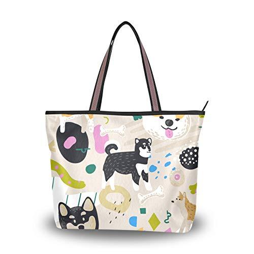 Sac à main Shopping sangle légère pour femmes filles dames étudiant dessin animé chien Animal Kawaii sacs à main sac fourre-tout sacs à bandoulière