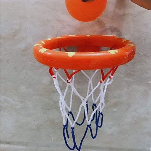 DXQDXQ Baloncesto Cuarto de Baño Canasta Baloncesto Infantil Plastico Ventosa Infantil Baloncesto Juego Interior Jardín Conjunto