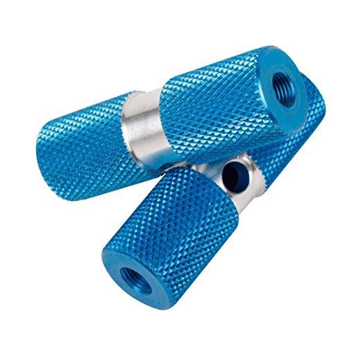 Kaemma 2 Piezas DUUTI HJT-101 Eje de Bicicleta estriberas Antideslizante Pedal de Equilibrio Equilibrio pie Soporte para Bicicleta de montaña Ciclismo al Aire Libre (Color:Blue)