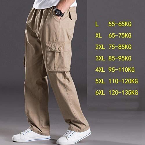 TUOP Casual Broek Man Multi Pocket Jeans Oversized Broek Overalls Elastische Taille Broek