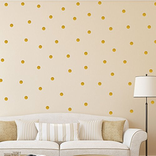 Polca Punto oro Vinilo Pegatina de pared   Decor Decal Mural Niños Niños