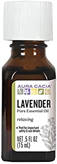 Aura Cacia 100% Pure Lavender Essential Oil | GC/MS Tested for Purity | 15 ml (0.5 fl. oz.) | Lavandula angustifolia