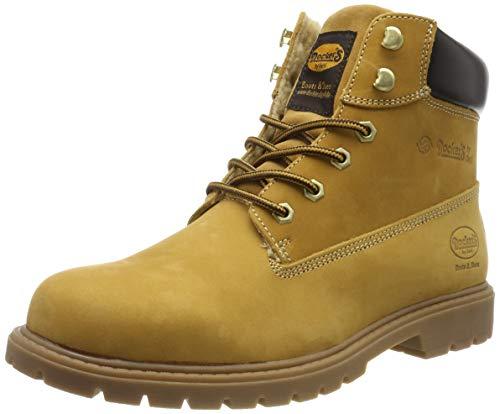 Dockers by Gerli Herren 45PA140 Combat Boots, Gelb (Golden Tan 910), 43 EU