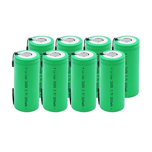 RitzyRose 10440 3.7v 600mah Li Ion baterías, recargable para la linterna de luz LED teledirigida 2pcs