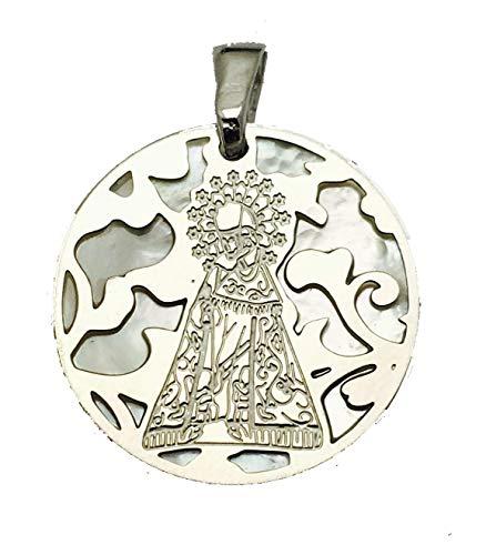 Medalla Virgen de los Desamparados en Plata de Ley