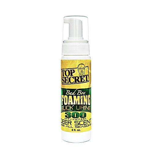 Top Secret Bad Boy Foaming Buck Urine 8oz Deer Scent #00257