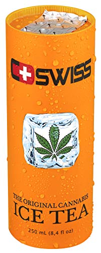 C Swiss - Cannabis Ice Tea The original THC-frei, pfandfrei, 12 Dosen je 250ml