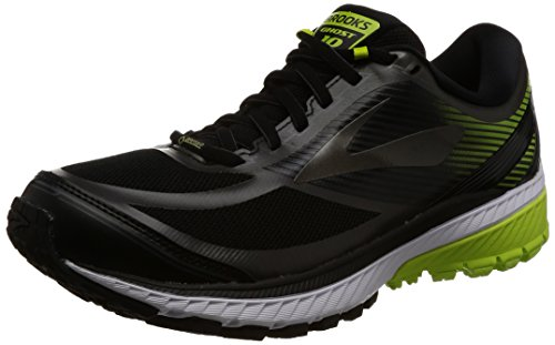 Brooks Men's Ghost 10 Gtx Running Shoes, Black (Black/Ebony/Limepopsicle 1d078), 7.5 UK (42 EU)