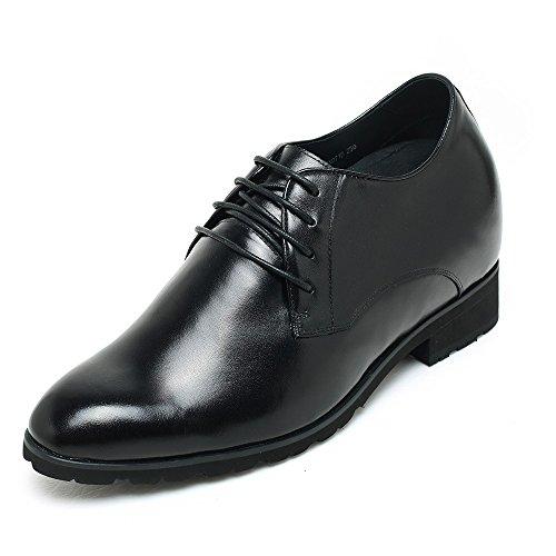CHAMARIPA Zapatos de Vestir Negros más Altos para Hombres de Oxford Negocio de 10 cm / 3.94 Inch