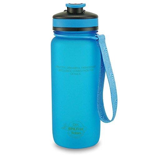 SMARDY Tritan Botella de Agua para Beber Rosa - 550ml - de plástico sin BPA - Tapa de un Clic - fácil de Abrir - ecológica - Reutilizable