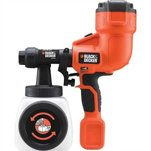 BLACK+DECKER HVLP200-GB Hand Held Paint Sprayer, 400 W, Black/Orange