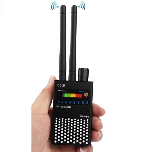 Anti-Spy RF Detector Wireless, Enhanced Dual Antenna Bug Detector Signal for GSM Finder Radar Radio Scanner,Black