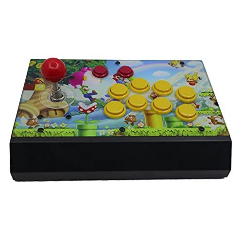 jiasHome DINGSONGYANG RAC-S300 Retro Arcade Game Console Joystick Fighting Stick Metal Case Panel de Ilustraciones 128 g (Color : Artwork 4)