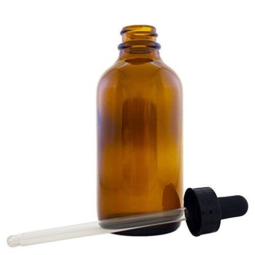 4 fl oz Amber Glass Bottle with Glass Dropper (Single) - GreenHealth