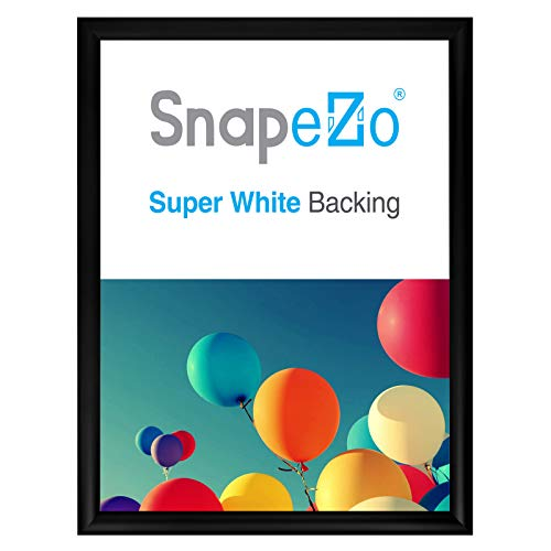 SnapeZo Poster Frame 17x22 Inches, Black 1.2 Inch Aluminum Profile, Front-Loading Snap Frame, Wall Mounting, Premium Series