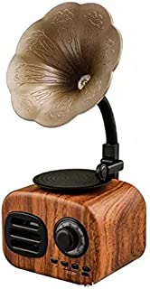FT-05 Retro Wood Gramophone Music Box Mini Portable Wireless Bluetooth Speaker FT Cards Long Standby Speakers Red