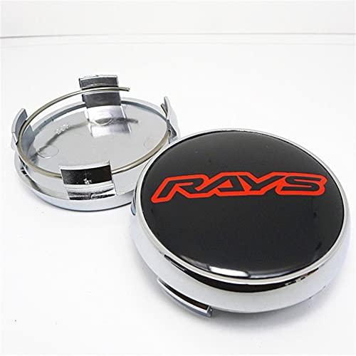 Ymgm 4pcs 65mm for Rayos TE37 Tapa del Centro de la Rueda Cubierta del Centro de la Cubierta Reemplazo de la Prueba de Polvo de Las Llantas Hubs Hubcaps Accesorios de Estilo de automóvil