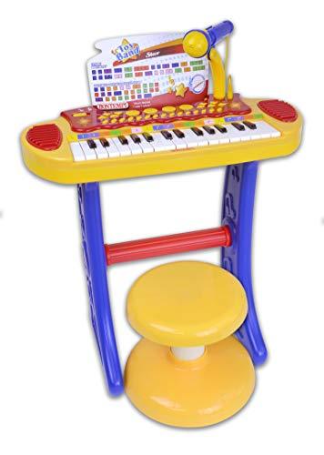 Bontempi- Tastiera, Multicolore, 45x43x61cm, 13 3242