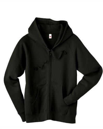 Hanes Women's 8 oz 80/20 Full-Zip Hoodie Sweatshirt Pullover W280 black Large