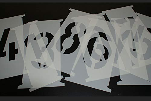 Zahlenschablonen 250mm nach DIN 1451