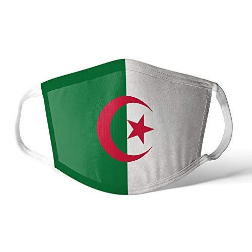 M&schutz Maske Stoffmaske Groß Notleidende Flagge Algerien/Algerische Wiederverwendbar Waschbar Weiches Baumwollgefühl Polyester Fabrik