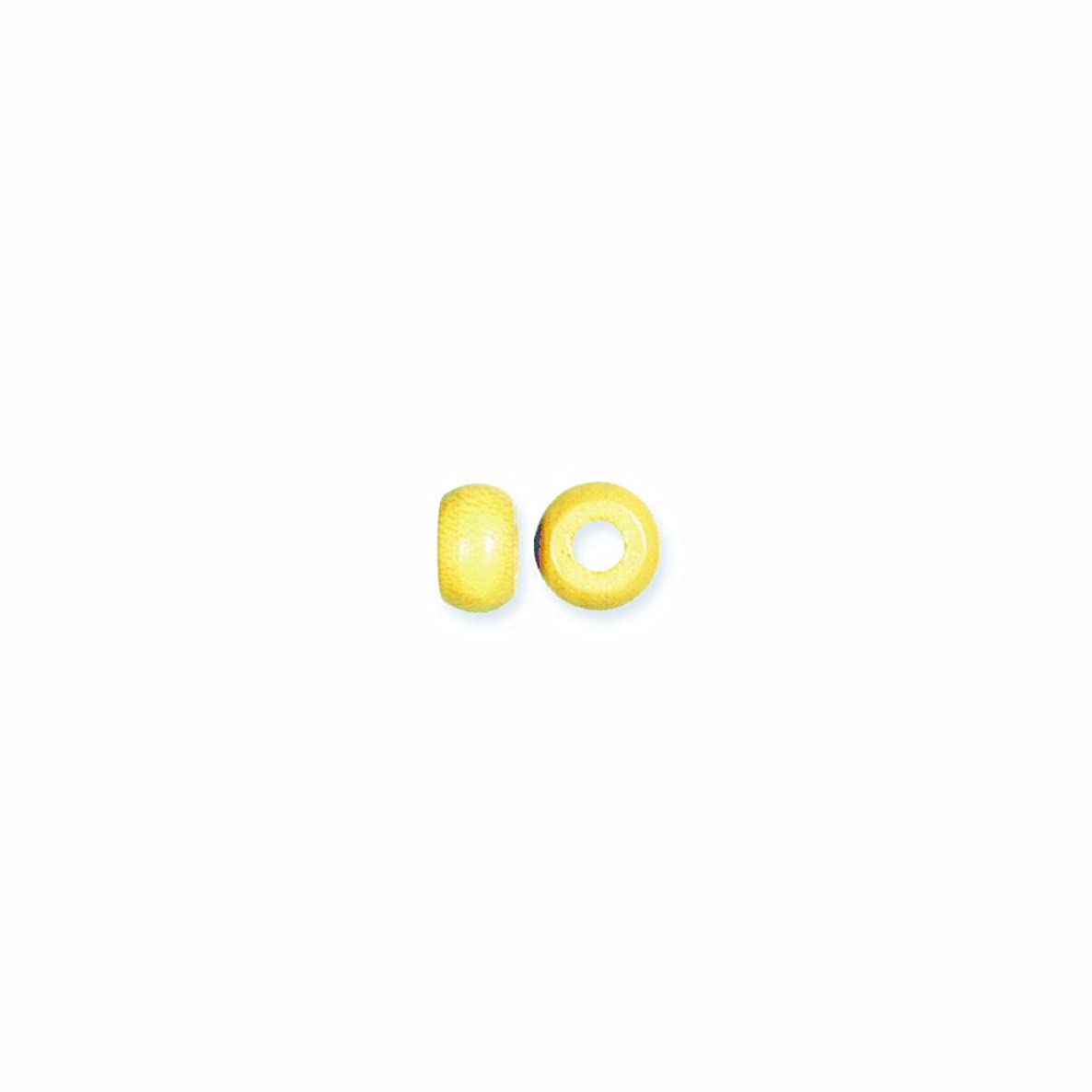 Shipwreck Beads Preciosa Czech Traditional Opaque Wood Crow Beads, 6 by 10mm, Yellow, 200-Pack
