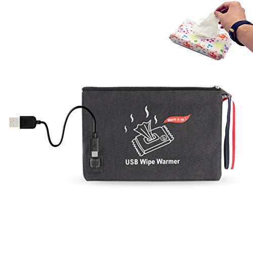Borstu Baby Tücher Wärmer Babypflegetücher Heizung Feuchttüchter Aufbewahrungstasche USB Powered
