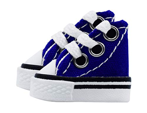 Teak Tuning Fingerboard Shoes, Pair - Blue - Mini Shoes Designed for Use When Fingerboarding