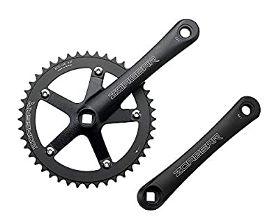 Zoagear New Single Speed Track Fixed Gear Crank Crankset 170mm 44 Teeth 130 BCD