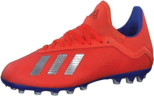 adidas X 18.3 AG J, Zapatillas de Fútbol Unisex Adulto, Rojo (Actred/Silvmt/Boblue 000), 38 2/3 EU