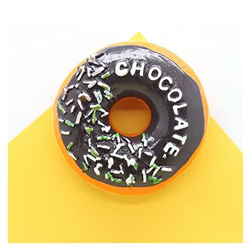 Xx101 Calamita da frigo Frigo Magnete Rotondo Dolce Ciambella Torte Desert Bambini Come colorato Messaggio Decorazioni Decorazioni magnetiche Adesivo Magnetico Ragazze Regalo Resina (Color : B)