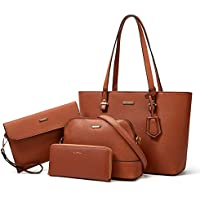 4-Pieces Lovematch Synthetic Leather Handbags