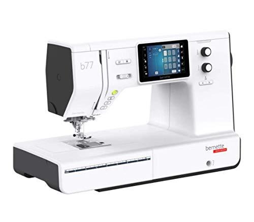 Bernette B77 - Máquina de coser con pantalla táctil a color y doble transporte, incluye 500 puntadas