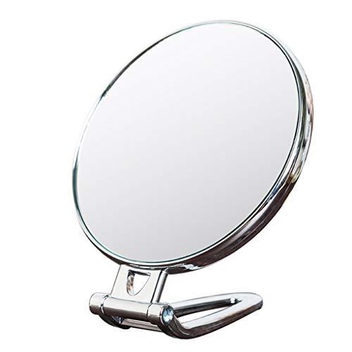 LQY Miroir à Main, Miroir de Maquillage, Miroir Pliant portatif, Miroir Compact portatif, Miroir de Coiffeuse Double Face,A