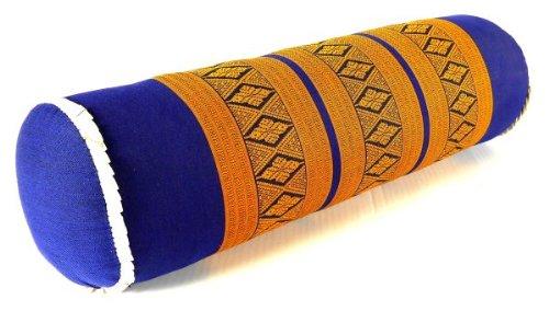 livasia Extra Lange Nackenrolle 58cm, Nackenkissen mit Kapokfüllung, Nackenstütze fest und formstabil (hellblau)