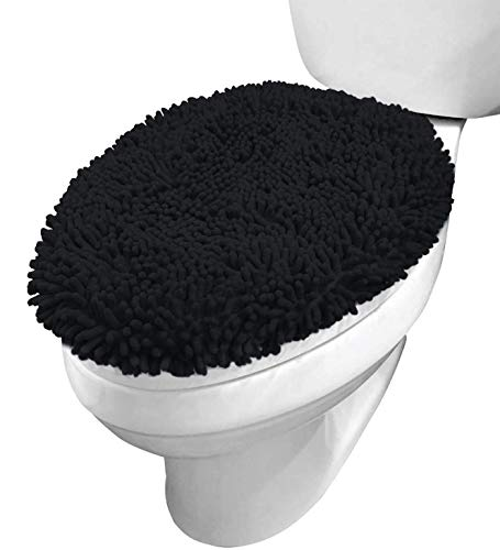 Pear Green Toilet Lid Cover Round Bowl Soft Top Non Slip Washable Plush Nylon