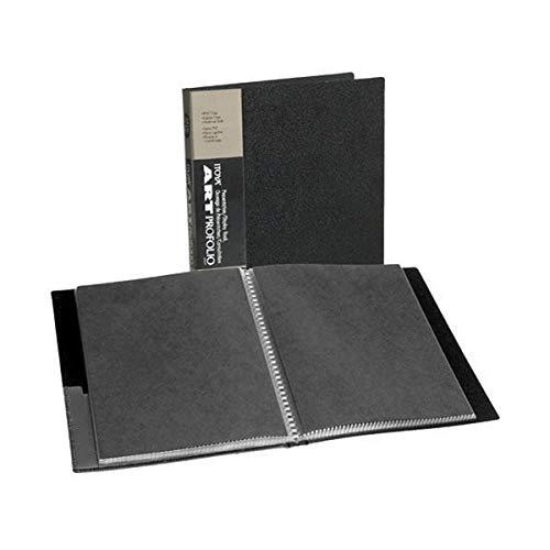 Itoya Art Profolio Portfolio 8-10 Inches Storage Display Book, 24 Sleeves for 48 Views