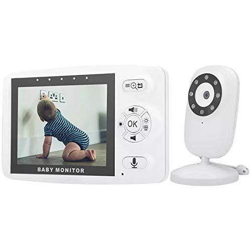 HXwsa videomonitor voor baby's, met 660 m lang bereik, Vision auto, nachtzicht, 3,5 inch display, 2 audiotrappen, temperatuursensor, energiebesparende modus, 8 lulba's