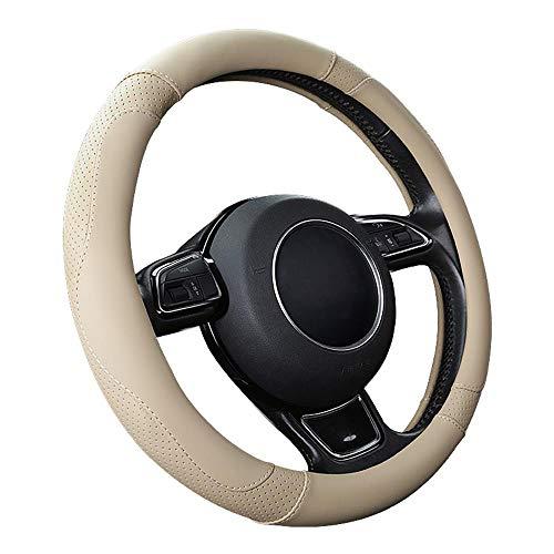 """SFONIA Coprivolante per Auto Protezione Custodia Volante Cover in Pelle Microfibra Universale 37-38cm / 15"""" Antiscivolo Traspirante Durevole (Colore Beige)"""